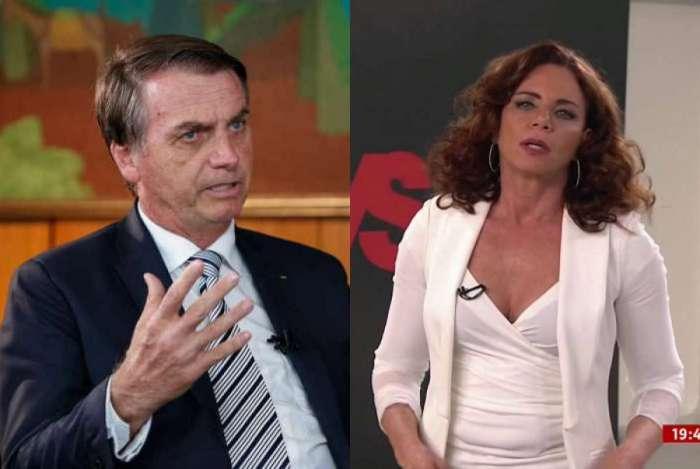 Bolsonaro e o filho brigam com jornalista da Globo e Luciano Huck