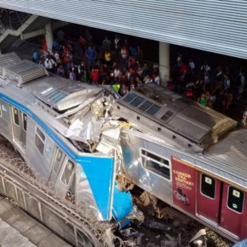 Colisão forte  entre trens da Supervia em São Cristóvão deixa nove feridos