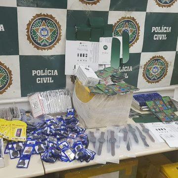 Quatro toneladas de produtos falsificados na são apreendidos na Dutra