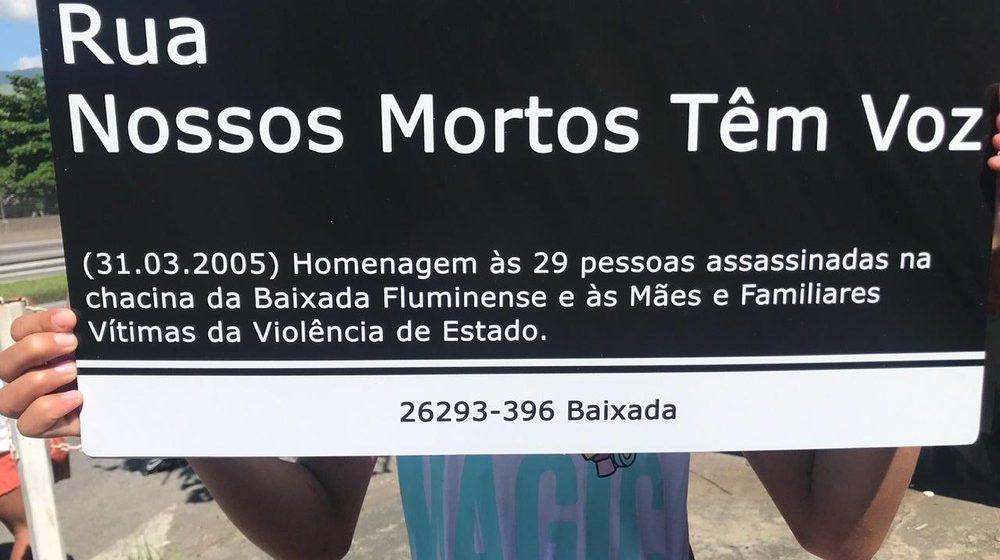Ato em Nova Iguaçu, RJ, marca 14 anos da Chacina da Baixada Fluminense
