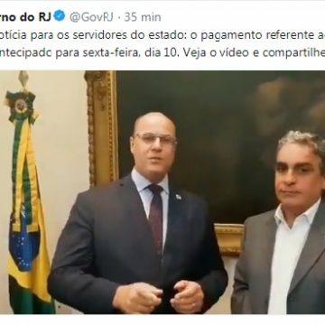 Estado do Rio paga salário de abril na próxima sexta-feira, 10 de maio