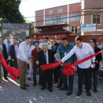 Crivella lança pedra fundamental de Paque Chinês na Tijuca