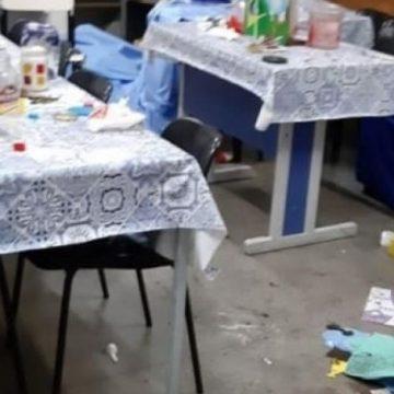 Escola suspende aulas após ser revirada por vândalos em Olaria