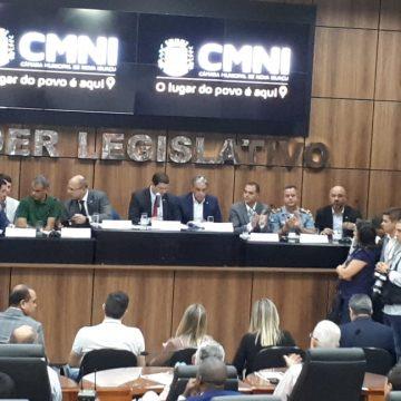 Audiência publica em Nova Iguaçu com a presença  do governador discute  segurança pública e saúde na Baixada