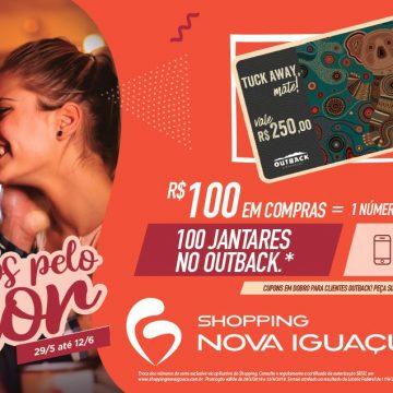 Shopping Nova Iguaçu sorteará 100 jantares no Outback em celebração ao Dia dos Namorados