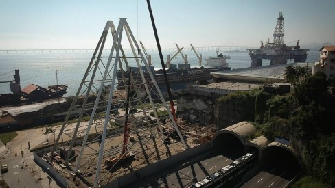 Roda-gigante da Zona Portuária ganhará os primeiros contornos na próxima semana