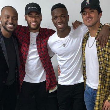 Com a presença de Neymar, Vinicius Junior comemora aniversário com festa na Barra