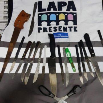 Segurança Presente retira mais de 30 facas das ruas em apenas um dia