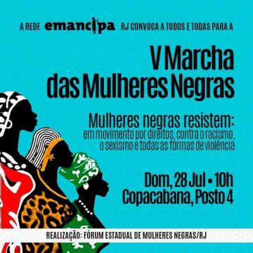 V marcha das mulheres negras