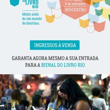 Vendas de ingressos para a Bienal do Livro do Rio estão abertas