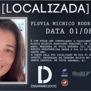 Mulher desaparecida em Volta Redonda é encontrada morta