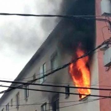 Incêndio destrói apartamento em Santa Cruz