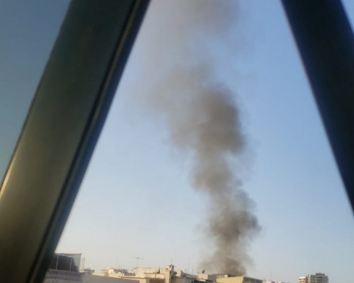 Incêndio atinge prédio na Tijuca