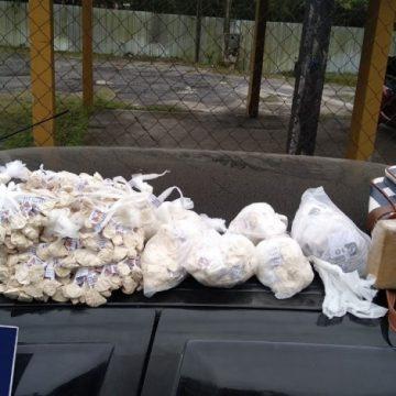 Casal com bebê é preso com dois mil pinos de cocaína em Petrópolis