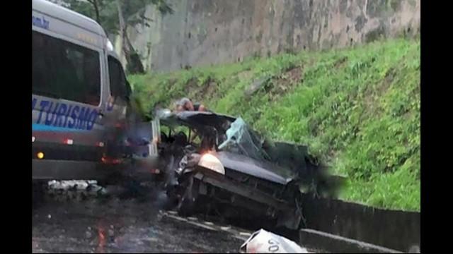 Acidente mata quatro pessoas na BR-101, em Mangaratiba, no RJ
