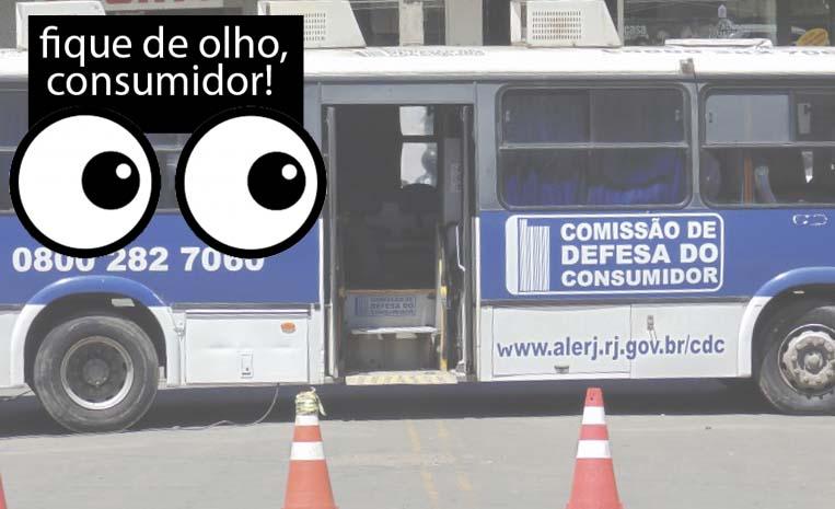 Ônibus da Comissão de Defesa do Consumidor atenderá em Nova Iguaçu de hoje até o dia vinte; Sua oportunidade de Reclamar