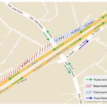 Atenção! Obras da Transbrasil têm interdições na Zona Norte