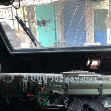 Lança-rojão capaz de disparar granada contra blindados é apreendido em Belford Roxo