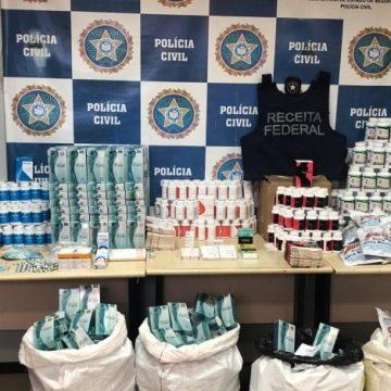 Polícia Civil apreende estoque de remédios e anabolizantes em Jacarepaguá