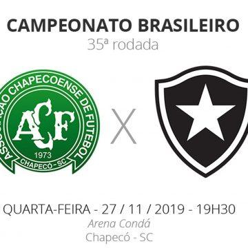 Chapecoense x Botafogo: veja onde assistir, escalações, desfalques e arbitragem