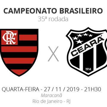 Flamengo x Ceará: veja onde assistir, escalações, desfalques e arbitragem