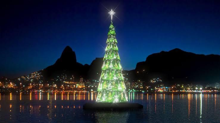Lagoa terá árvore de natal