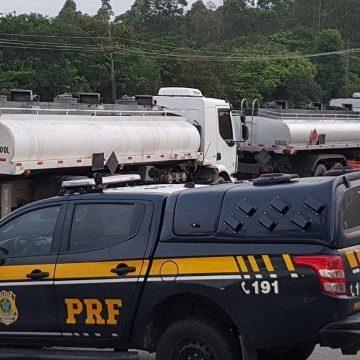 PRF apreende 45 mil litros de combustível na Dutra