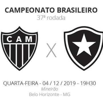 Atlético-MG x Botafogo: veja onde assistir, escalações, desfalques e arbitragem