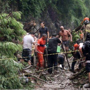 Chuva causa deslizamento e morte em município do Rio