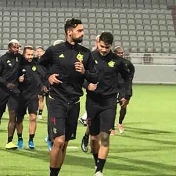 Com direito a papo de Jesus com Gabigol e Arão, Flamengo treina em Doha de olho na final