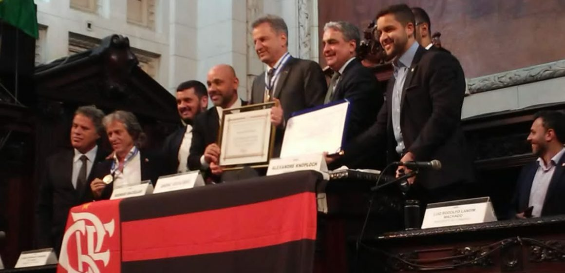 Jorge Jesus e Rodolfo Landim recebem Medalha Tiradentes na Alerj