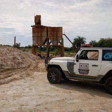 Operação conjunta promove destruição de areais clandestinos em Duque de Caxias
