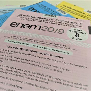 Resultados do Enem 2019 serão divulgados em 17 janeiro, diz Inep