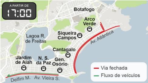 Réveillon 2020: começam as interdições em Copacabana para a virada do ano