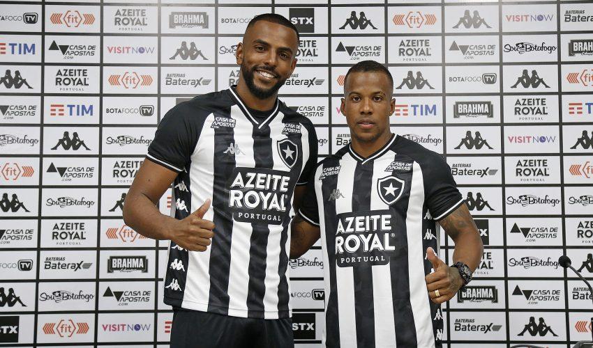 Apresentados, Guilherme Santos e Ruan Renato prometem fazer história no Botafogo