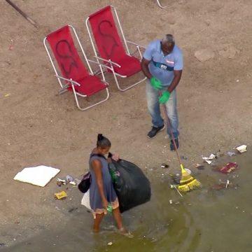 Biólogo alerta para a qualidade da água do Piscinão de Ramos, na Zona Norte do Rio