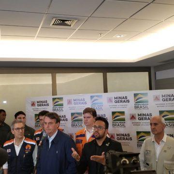 Bolsonaro anuncia cerca de R$ 900 milhões em verbas federais e liberação do saldo do FGTS para vítimas das chuvas em MG, ES e RJ