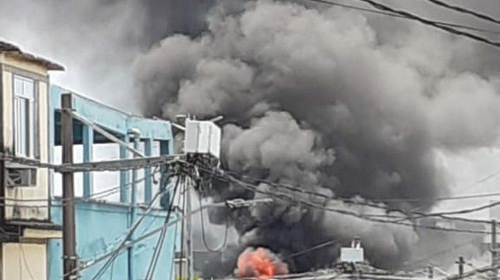 Incêndio atinge templo religioso em Duque de Caxias, na Baixada Fluminense