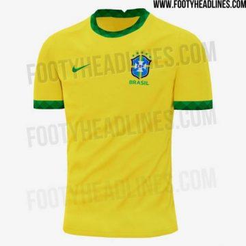 Site vaza nova camisa da seleção brasileira, inspirada nos 50 anos do tri