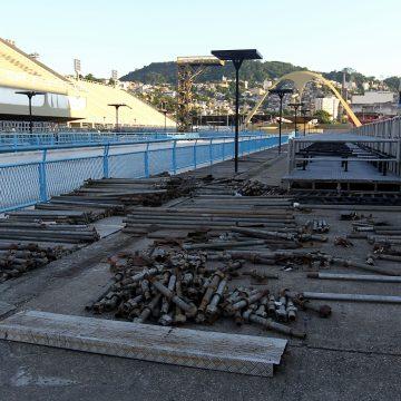 Prefeitura promete entregar obras do Sambódromo até dia 10 de fevereiro