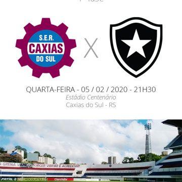 Caxias x Botafogo: veja como assistir, escalações, desfalques e arbitragem