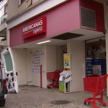 Filial das Lojas Americanas no Jardim Botânico, Zona Sul do Rio, é assaltada