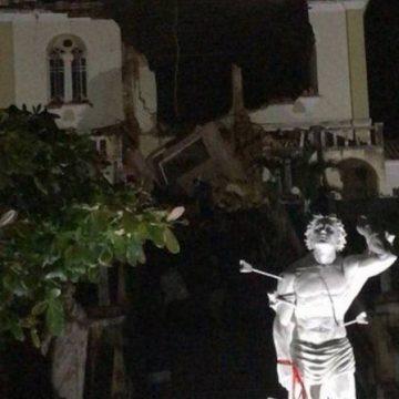 Igreja Matriz de Varre-Sai desaba; três rios transbordam e preocupam as Regiões Norte e Noroeste do Rio