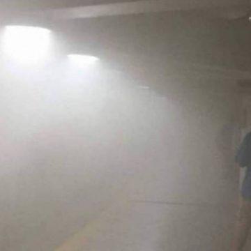 Passageiros da linha 1 do metrô se assustam com vazamento de gás