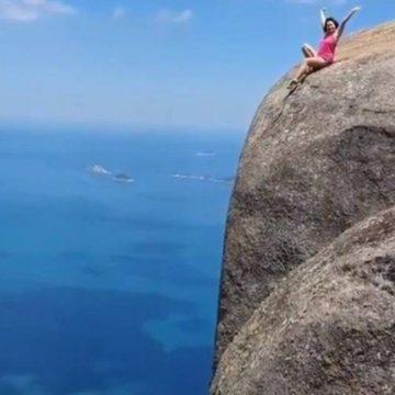 Vídeo de turista na Pedra da Gávea tem mais de 10 milhões de visualizações e repercute na imprensa internacional