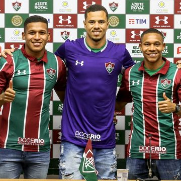 Wellington Silva, Fernando Pacheco e João Lopes são apresentados pelo Fluminense