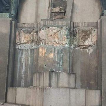 Estátua de 400 kg é furtada de monumento em homenagem ao Marechal Deodoro na Glória