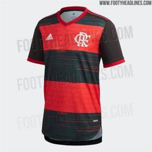 Vaza nova camisa do Flamengo, que será utilizada pela primeira vez na Supercopa