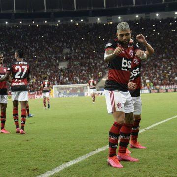 Gabigol faz dancinha do Babu, do BBB, ao comemorar gol em Flamengo x Botafogo