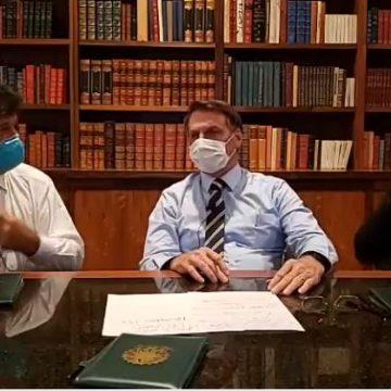 Primeiro exame de Bolsonaro testa positivo para coronavírus